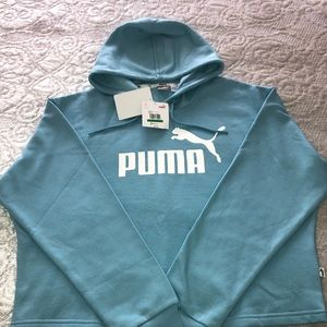 NWT Women's Cropped Puma Hoodie Size Large